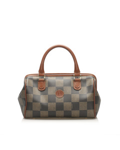 Fendi Pequin Boston Bag Brown