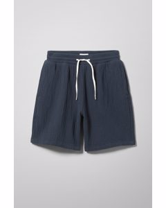 Nox Quilted Shorts Navy Blue