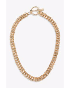 Chunky Gold Chain Necklace Gold Metal