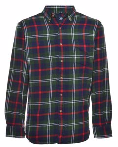 2000s Flannel Fabric Checked Shirt
