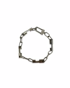 Gucci Sterling Silver Chain Unisex Bracelet