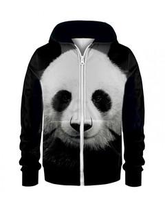 Mr. Gugu & Miss Go Panda Kids Zip Hoodie Animal Black