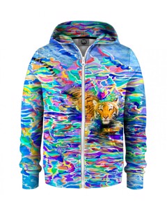 Mr. Gugu & Miss Go River Tiger Kids Zip Hoodie Sharp Blue