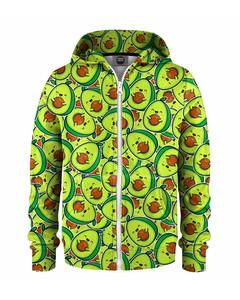 Mr. Gugu & Miss Go Kawaii Avocado Kids Zip Hoodie Light Green