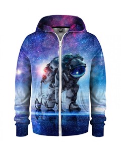 Mr. Gugu & Miss Go Cosmonaut Kids Zip Hoodie Galaxy Blue