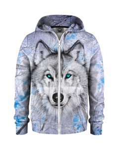 Mr. Gugu & Miss Go Wolves Kids Zip Hoodie Winter White
