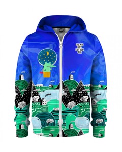 Mr. Gugu & Miss Go Dream Big Kids Zip Hoodie Bubble Blue