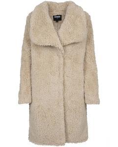 Damen Ladies Soft Sherpa Coat