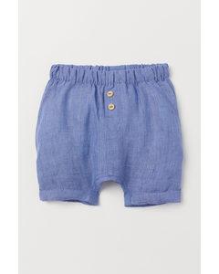 Linen Shorts Blue