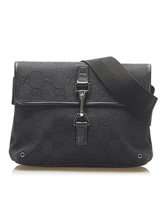 Gucci Gg Canvas Jackie Belt Bag Black