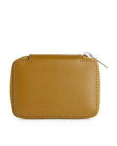 Brieftasche aus Leder mit Reißverschluss Braun