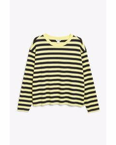 Soft Long-sleeve Top Yellow And Black Stripes
