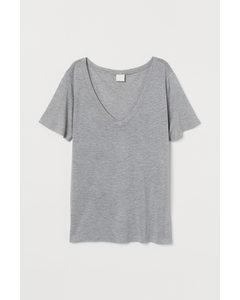 Luftiges T-Shirt Graumeliert
