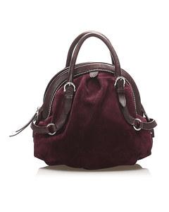 Ferragamo Suede Handbag Purple