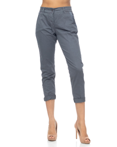Elastic Pants With Back And Front Pockets And Side Ribbon Detail