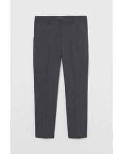 Slim Fit Suit Trousers Dark Grey Marl