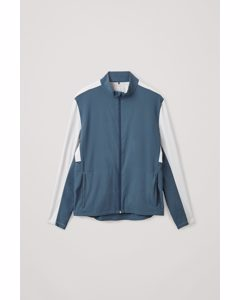 Running Jacket Steel Blue / White
