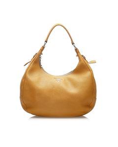 Prada Leather Shoulder Bag Yellow