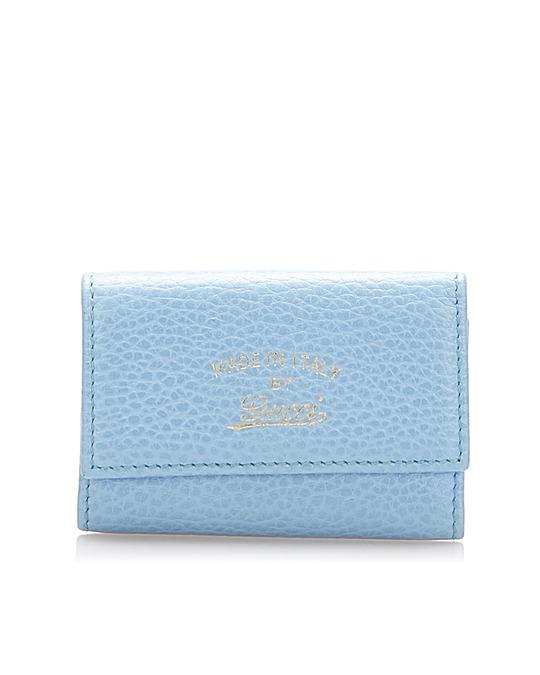 Gucci Gucci Swing Leather Key Holder Blue