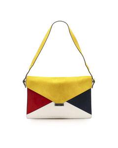 Celine Diamond Leather Shoulder Bag Multi