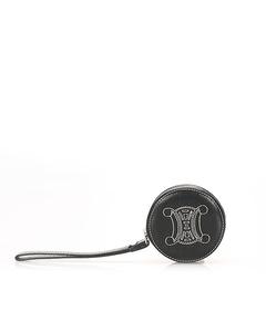 Celine Leather Coin Pouch Black