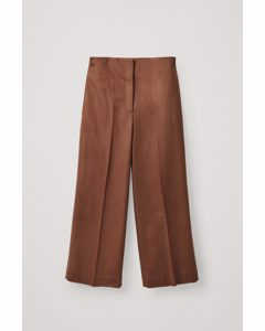 Wool-cashmere Tailored Trousers Brown