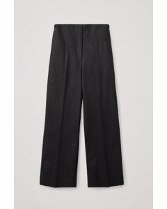 Wool-cashmere Tailored Trousers Black