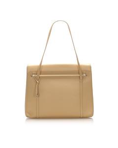 Cartier Leather Shoulder Bag Brown