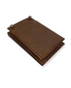Gucci Vintage Brown Leather Desk Notepad Notebook Holder