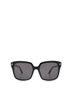Ft0788 Shiny Black Solglasögon