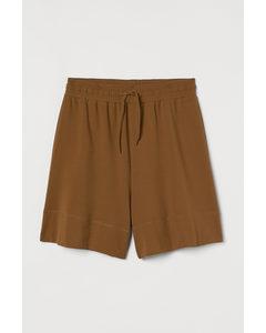Shorts aus Pima-Baumwolle Braun