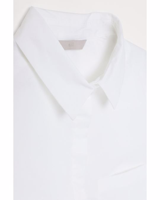 H&M Fitted shirt White