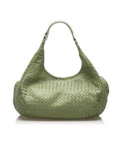 Bottega Veneta Intrecciato Campana Hobo Bag Green