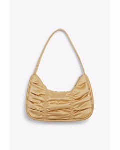 Ruched Shoulder Bag Gold