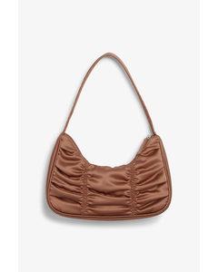 Ruched Shoulder Bag Bronze