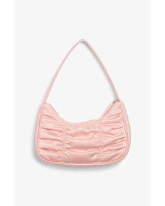 Ruched Shoulder Bag Pink