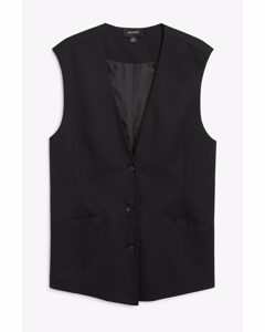 Oversized Tailored Vest Black