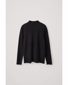 Cashmere Mock-neck Jumper Black