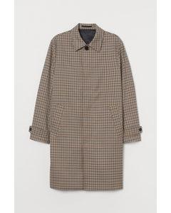 Carcoat Beige/zwart Geruit