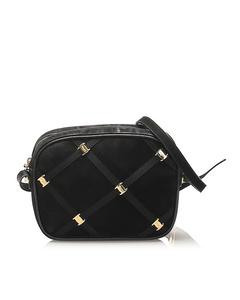 Ferragamo Vara Suede Crossbody Bag Black