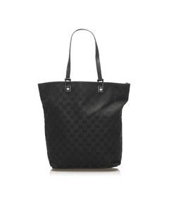Gucci Gg Canvas Tote Bag Black