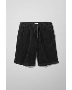 Bravo Cord Shorts Black