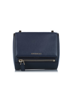 Givenchy Pandora Box Leather Crossbody Bag Blue