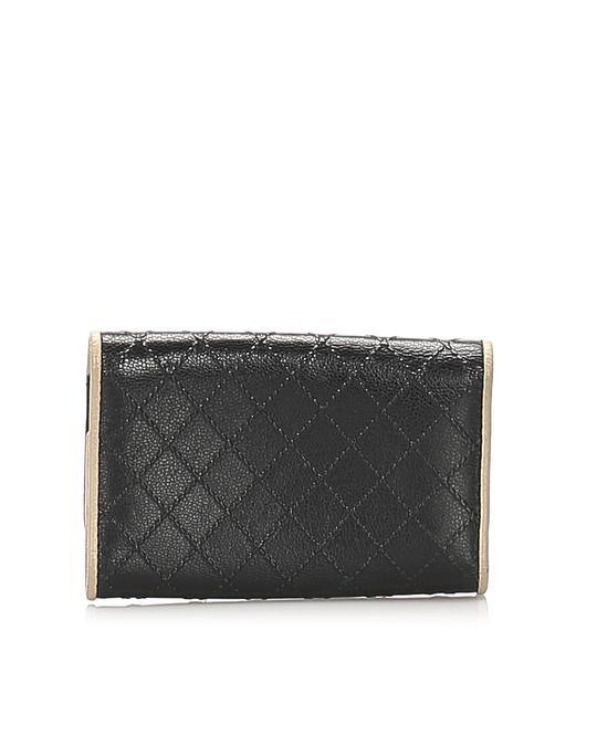Chanel Chanel Cc Lambskin Leather Key Holder Black