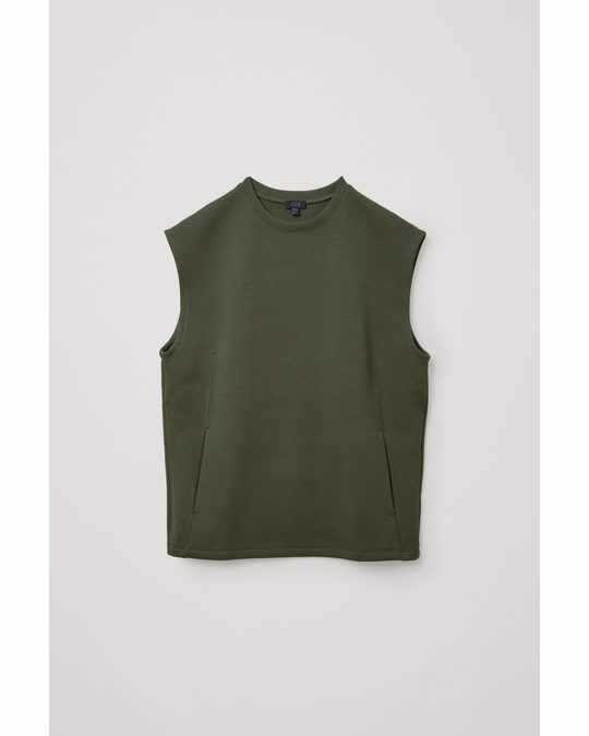 COS Performance Scuba Vest Dark Green