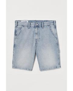 Jeansshorts Regular Hellblau