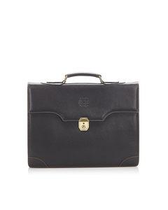 Loewe Leather Business Bag Black