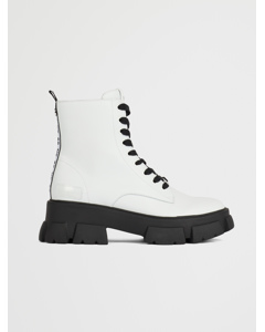 Tanker Bootie White leather