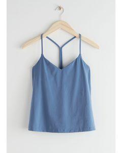 Quick-dry Yoga Top Blue