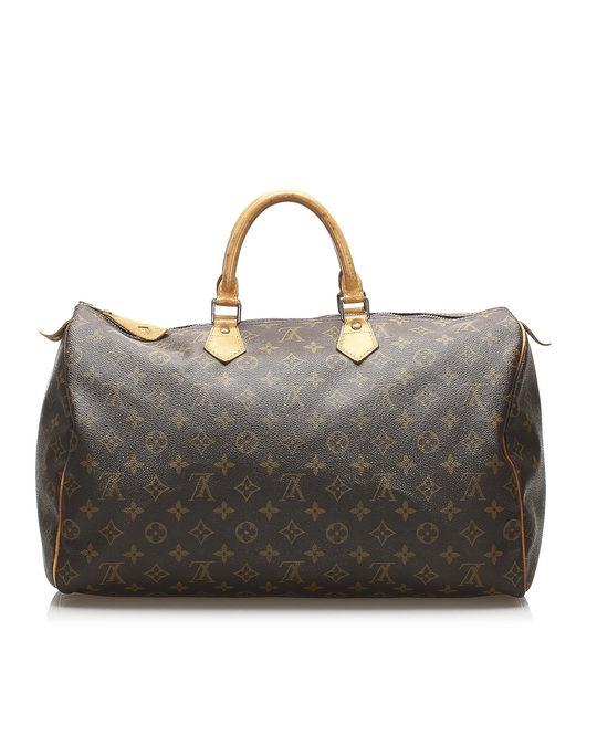 Louis Vuitton Louis Vuitton Monogram Speedy 40 Brown